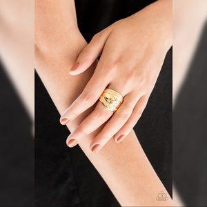 Paparazzi Goldtone Ring Stretchy Band